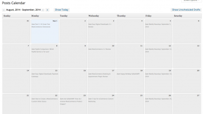 WP Editorial Calendar